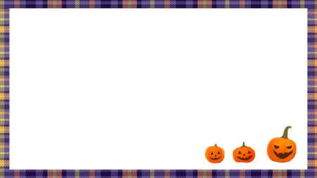 happy halloween pumpkins, frame background