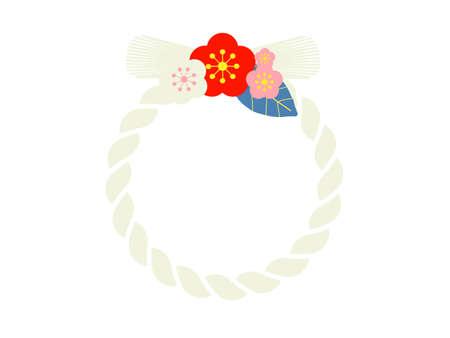 modern Japanese new year decoration art rope