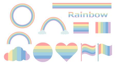 lgbtq rainbow motif symbols icons