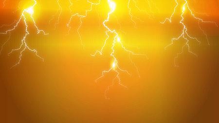 lightning strikes on sky background