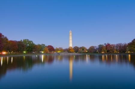Washington Monument Reflection Stok Fotoğraf