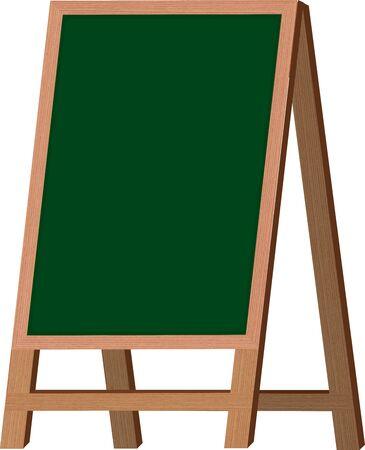 Empty restaurant menu black board ease isolated.vector illustration