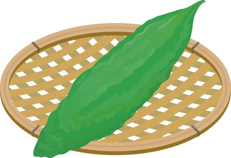 Illustration of goya on the basket. Vektorgrafik