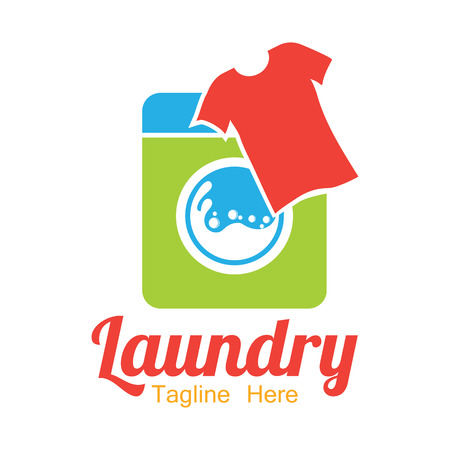 laundry care symbol: A laundry icon with text space for your slogan  tag line, vector illustration.