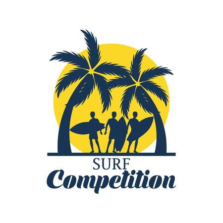 Ein Surfen Festival Banner für Surfen Wettbewerb . Vektor-Illustration