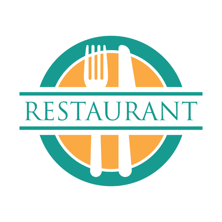 restaurant logo with text space for your slogan / tag line, vector illustration