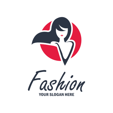 fashion and beauty logo, emblems and insignia with text space for your slogan  tag line. vector illustration