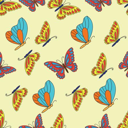 Beautiful butterfly seamless pattern. vector illustration.