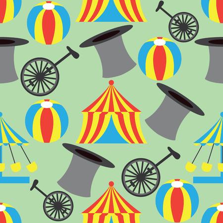 circus ornament seamless pattern. vector illustration