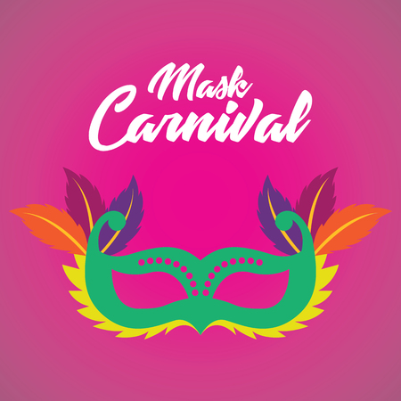 Mask carnival for party decoration vector illustration.