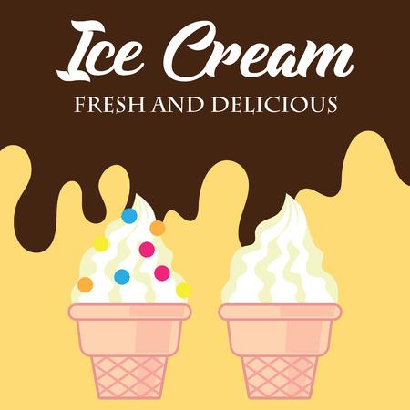 ice cream poster. vector illustration