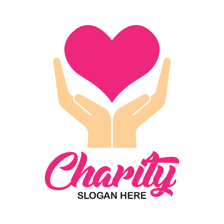 charity and care emblems and insignia with text space for your slogan