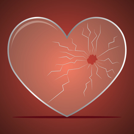 Broken heart / heartbreak flat icon for broken heart concept, vector illustration. Illustration