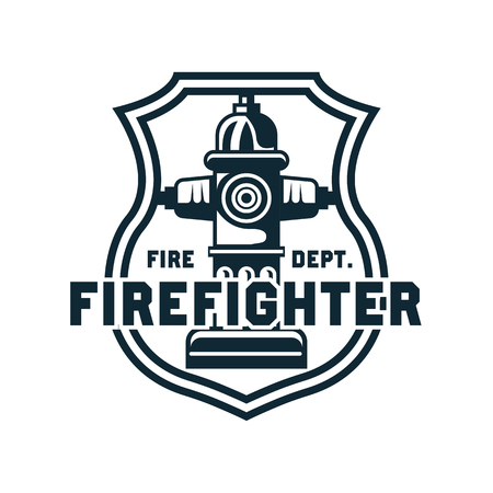 Firefighter icon, emblems and insignia with text space for your slogan / tagline. vector illustration