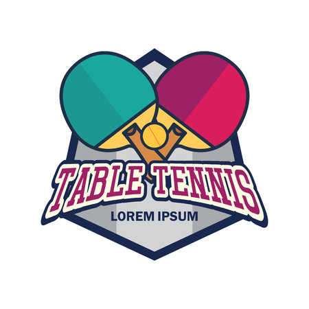 table tennis with text space for your slogan  tag line