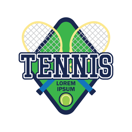 tennis court with text space for your slogan / tag line