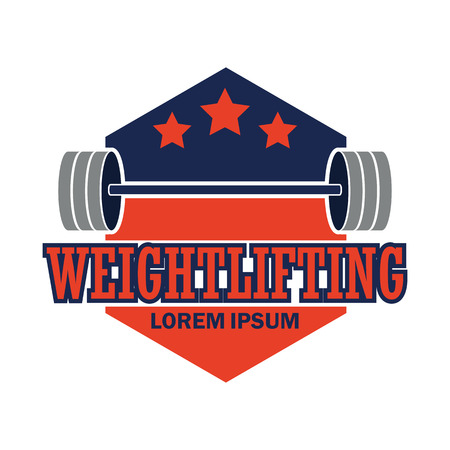 weight lifting emblem with text space for your slogan / tag line
