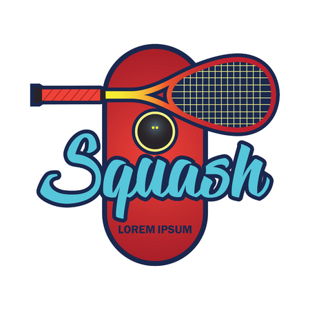 squash  emblem with text space for your slogan / tag line, vector illustration 일러스트