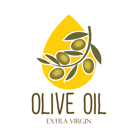 olive oil  emblem with text space for your slogan / tag line, vector illustration  イラスト・ベクター素材