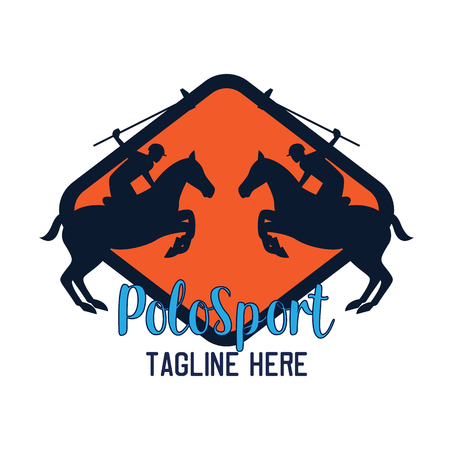 polo sport  emblem with text space for your slogan / tag line, vector illustration 矢量图像