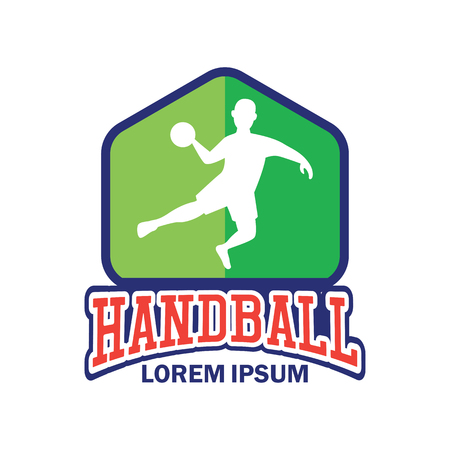 handball emblem with text space for your slogan / tag line, vector illustration Иллюстрация