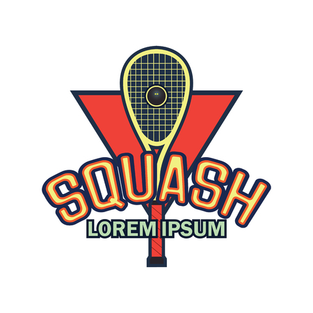 squash emblem with text space for your slogan  tag line, vector illustration Illustration