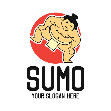 sumo emblem with text space for your slogan / tag line, vector illustration