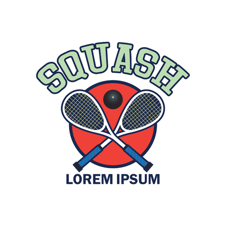 squash  emblem with text space for your slogan  tag line, vector illustration