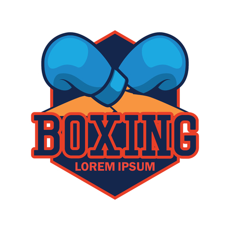 boxing emblem with text space for your slogan / tag line, vector illustration