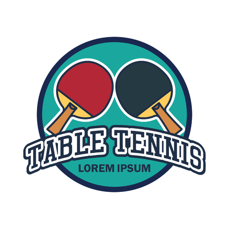 table tennis emblem with text space for your slogan  tag line, vector illustration Illustration
