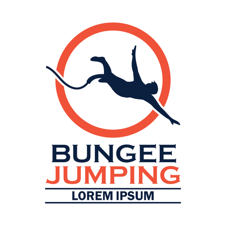 bungee jumping logo with text space for your slogan / tag line, vector illustration Logo