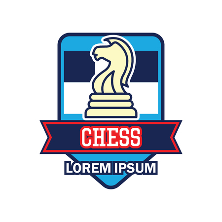 chess logo with text space for your slogan  tag line, vector illustration