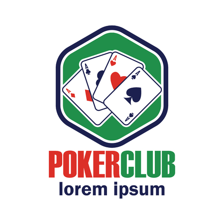 poker  casino logo with text space for your slogan  tag line, vector illustration