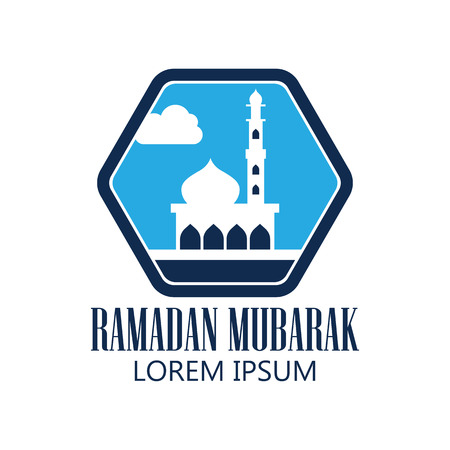 ramadan kareem  ramadan mubarak logo with text space for your slogan  tag line, vector illustration