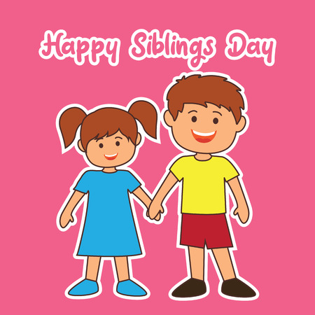 happy sibling's day concept. vector illustration Vectores