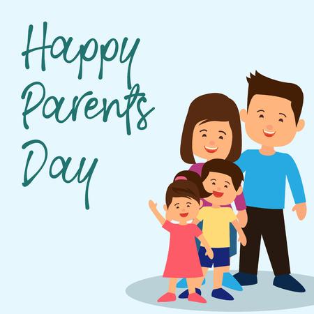 happy parent's day concept. vector illustration Vetores