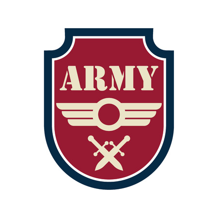 army badge logo with text space for your slogan  tag line, vector illustration