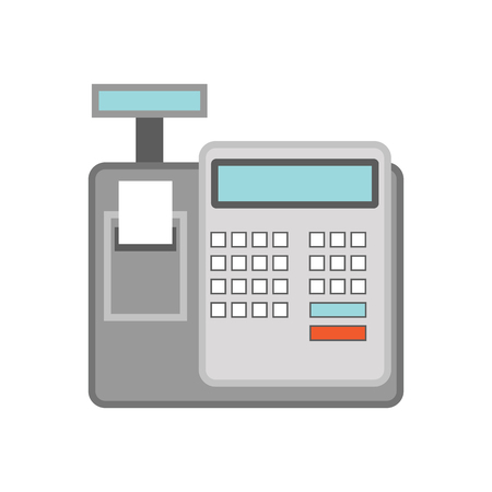 cash register for business concept. vector illustration