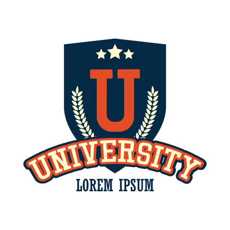 university  campus logo with text space for your slogan  tag line, vector illustration