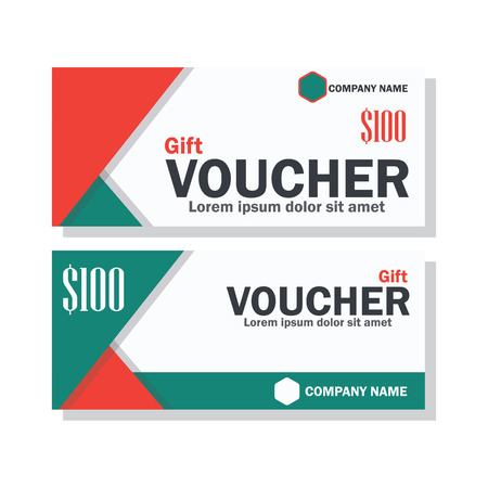 gift voucher for business concept. vector illustration