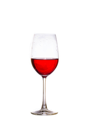 merlot: Merlot wineglass isolated Stock Photo