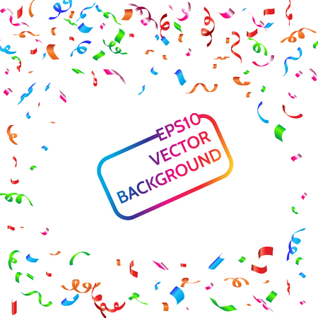 Celebration carnival. Bright colorful vector confetti background. Illustration