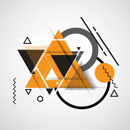 Abstracte geometrische vectorachtergrond met driehoeken.