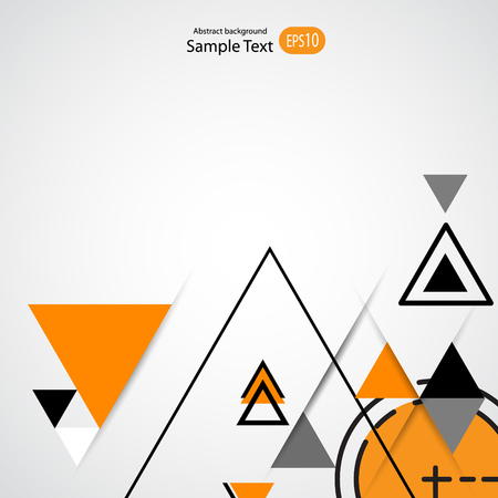 Abstract geometric vector background with triangles. Illustration
