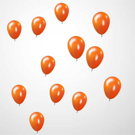 Orange Balloons celebration Background.