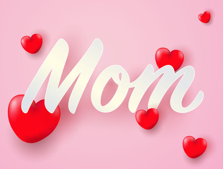 i love you mom with heart
