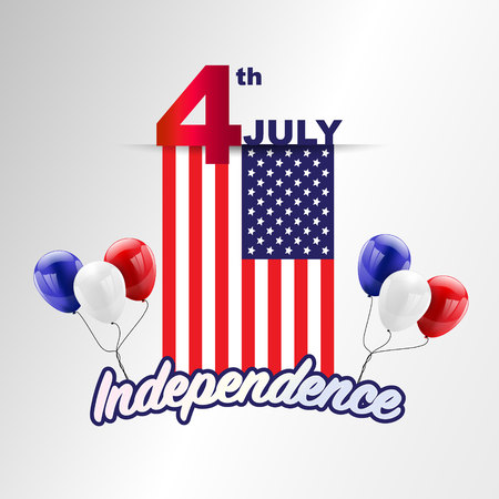 4th july American independence day design Vector illustration