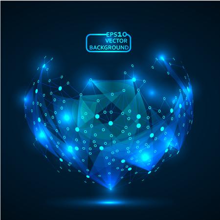 Résumé de fond pour la technologie de conception et de réseautage de la technologie Banque d'images - 84519543