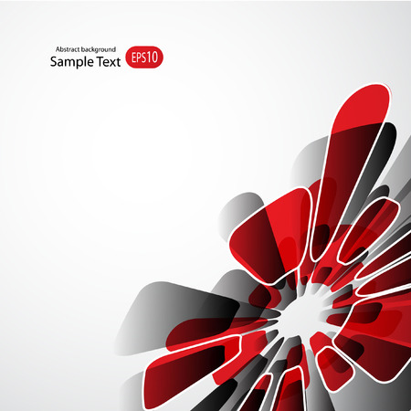 Abstract Red Background with Stripes. Minimal Banner.