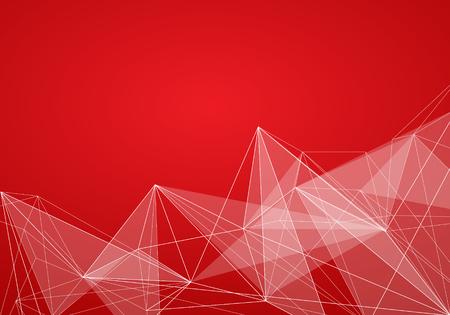 Abstracte Rode Achtergrond Met Strepen. Minimale Banner.